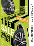 advertising brochure. sale of... | Shutterstock .eps vector #1734841727