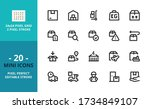mini line icons about shipping... | Shutterstock .eps vector #1734849107
