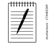 pen and writing pad | Shutterstock . vector #173485289