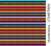 leopard serape seamless pattern ... | Shutterstock . vector #1734875804