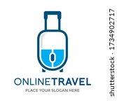 online travel vector logo... | Shutterstock .eps vector #1734902717