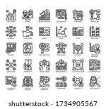 set of research and analysis... | Shutterstock .eps vector #1734905567