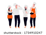 professional male and female... | Shutterstock .eps vector #1734910247