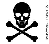 skull and bones | Shutterstock . vector #173491127