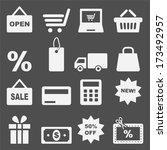 shopping icon set  | Shutterstock .eps vector #173492957