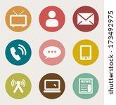 internet icon  | Shutterstock .eps vector #173492975