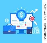 business idea. vector... | Shutterstock .eps vector #1734940847
