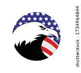 eagle symbol vector icon... | Shutterstock .eps vector #1734964844