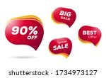 discount sticker. sale red tag... | Shutterstock .eps vector #1734973127