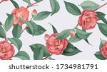 Floral Seamless Pattern  Red...