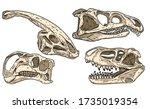 Dinosaurs Hand Drawn Skulls...