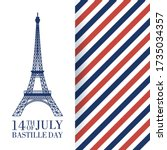 french national day 14th of... | Shutterstock .eps vector #1735034357