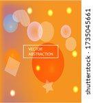 modern blurry smooth background.... | Shutterstock .eps vector #1735045661