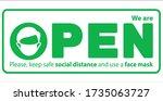 we're open vector illustration... | Shutterstock .eps vector #1735063727