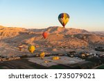 Hot Air Balloons Above Valley...