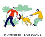 scared passerby male character... | Shutterstock .eps vector #1735106471