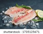 Fresh Fish Fillet Of Sea Bass...