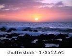 hawaiian sunset off the kohala... | Shutterstock . vector #173512595