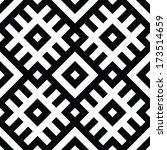 black and white geometric... | Shutterstock .eps vector #173514659