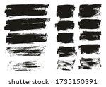 flat paint brush thin long  ... | Shutterstock .eps vector #1735150391