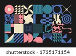 geometric distress aesthetics... | Shutterstock .eps vector #1735171154