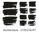 flat paint brush thin long  ... | Shutterstock .eps vector #1735176197