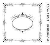 hand drawn elegant frame.... | Shutterstock .eps vector #1735179731