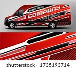 van car wrapping decal... | Shutterstock .eps vector #1735193714
