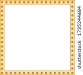 square jewelry frame is... | Shutterstock .eps vector #1735244684