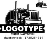 american semi trailer truck...   Shutterstock .eps vector #1735254914