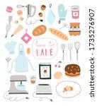 cooking vector clipart. baking... | Shutterstock .eps vector #1735276907