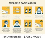 how to properly use a face mask....   Shutterstock .eps vector #1735279397