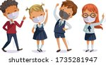 back to school for new normal... | Shutterstock .eps vector #1735281947
