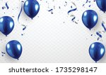 helium balloon  realistic blue...   Shutterstock .eps vector #1735298147