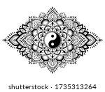 circular pattern in form of... | Shutterstock .eps vector #1735313264