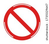 prohibited no stop sign  no... | Shutterstock .eps vector #1735329647