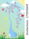 elephant under the sun | Shutterstock .eps vector #173533649