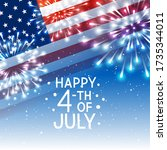 independence day greeting card...   Shutterstock .eps vector #1735344011