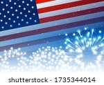 independence day greeting card...   Shutterstock .eps vector #1735344014