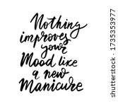 vector handwritten lettering...   Shutterstock .eps vector #1735353977