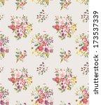 seamless floras vector pattern...   Shutterstock .eps vector #173537339