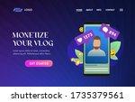monetize your vlog ui ux vector ...