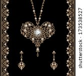 vintage gold jewelry set  ...   Shutterstock .eps vector #173538527