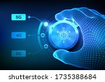 5g network wireless systems and ... | Shutterstock .eps vector #1735388684