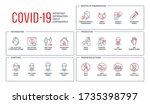 routes of transmission  signs... | Shutterstock . vector #1735398797
