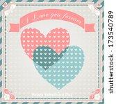 valentine's day vintage... | Shutterstock . vector #173540789