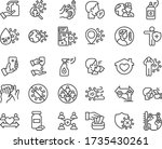 covid 19 protection line icon... | Shutterstock .eps vector #1735430261
