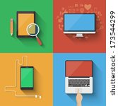 vector device icon set. choose... | Shutterstock .eps vector #173544299