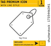 tag premium vector icon with...