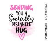 sending you a socially... | Shutterstock .eps vector #1735484261